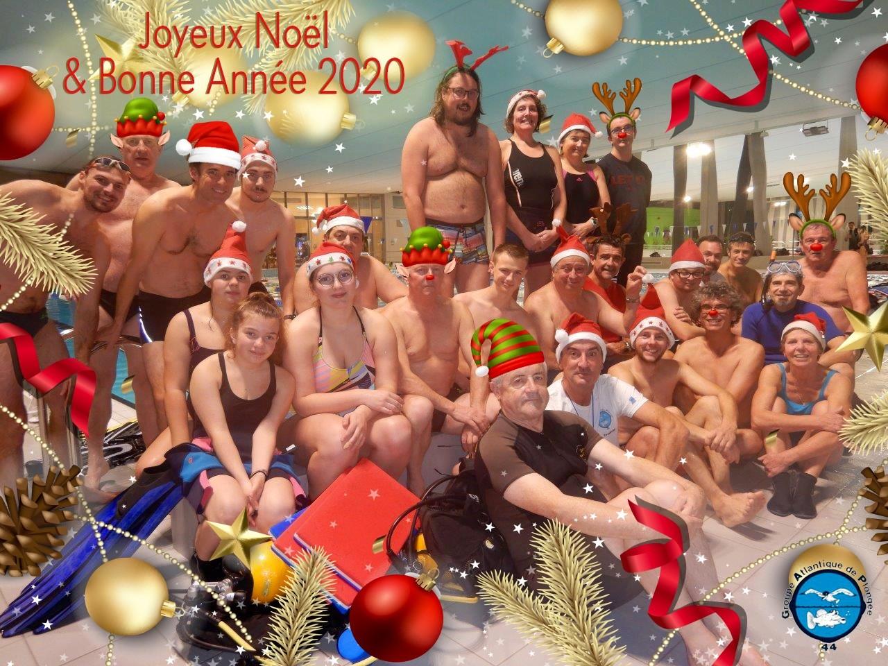 Les Pères Noël font leur plongée à l'Aquaparc